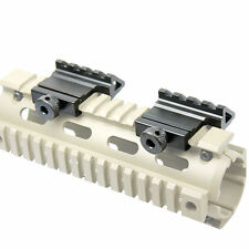 2PC 45 Degree Offset Rail Mount Quick Release For Picatinny Weaver Rail US Stock