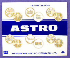 Pilsener Brewing Co ASTRO - PREMIUM BEER label PA 12oz