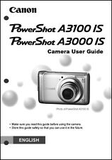 Canon Powershot A3000 IS A3100 IS Digital Camera User Guide Instruction  Manual