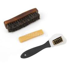 85% Horse Hair Buffing & 3-side Brush, Rubber Eraser Suede Nubuck Shoes Cleaning