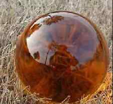 Asian Rare Quartz Amber Color Magic Crystal Healing Ball Sphere 40mm+Stand HU73