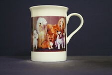 UNIQUE 320ml BONE CHINA MUG WITH IMAGE OF ORIGINAL PAINTING: Doggies