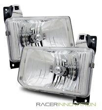 For 88-89 Nissan Hardbody/87-95 Pathfinder Aftermarket Crystal Headlights Chrome