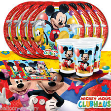 Disney Mickey Mouse Playful Children's Birthday Party Tableware Pack For 8