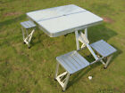 Brand New Aluminium Portable Folding Picnic Camping Set Table with 4 Chairs