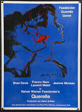"QUERELLE 1982 Rare 23x33"" Andy Warhol-designed German L/B film poster Fassbinder"