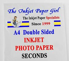 A4 155g Double Sided Gloss/Gloss Inkjet Paper 50 sheets Slight Seconds (ref 33)