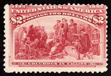 "US Sc# 242 *UNUSED LH* { $2 COLUMBUS IN CHAINS } ""SCARCE 1893 COLUMBIAN SERIES"