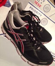 Mens Asics Running Shoes Size 12 Gel-Neo33 Black Red Good Condition!