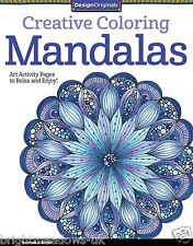 Creative Mandalas Adult Colouring Book Calm Relaxing Art Therapy Patterns Mind