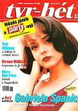 GABRIELA  ( GABY ) SPANIC   , FERNANDO  COLUNGA      Hungarian  magazine   1999