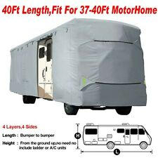 Deluxe Vented RV Motorhome Camper Trailer Cover UV Resistance 37', 38', 39', 40'