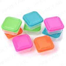 8 x SMALL FOOD STORAGE CONTAINERS Nuts/Snacks/Fruit Sauce/Dressing Leftover Tub