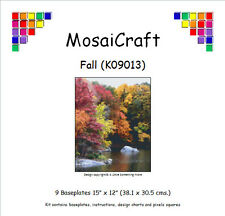 MosaiCraft Pixel Craft Mosaic Art Kit 'Fall' (Incl. Dove Tail Clips)