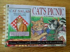 Cat's Picnic Greens Games Fun For Your Favorite Feline Spiral 1991 C. Crimmins