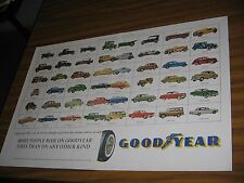 1963 Print Ad Goodyear Tires Showing 48 Vintage Cars
