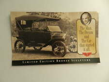 Franklin Mint FORD MODEL T Bronze Sculpture Brochure Pamphlet Mailer