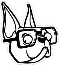 PEGATINA STICKER AUFKLEBER BULLDOG FRANCES FRENCH SUNGLASSES GAFAS COOL