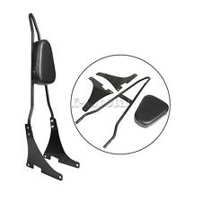 Passenger Backrest Sissy Bar Pad For Harley Sportster XL 883 1200 48 04-UP Black