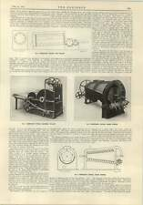 1915 Papermaking Machinery Grasses Duster Cylindrical Boiler