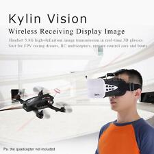 KDS Kylin Vision 64CH 3D FPV RC Quadcopter Goggles 5 Inch VR Headset I0U8