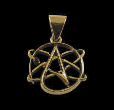 Bronze Science and Atheism Pendant w/Chain - Free Shipping/In Stock