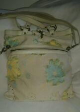 Ipa Nima floral embroidery sateen handbag shoulder bag Crossbody purse Rare!