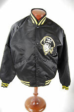 MLB Pittsburgh Pirates Vintage Black Satin Starter Jacket Large