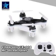 Cheerson CX-10A Mini 4CH 2.4G 6-Axis Gyro RC Quadcopter LED Headless Mode Black
