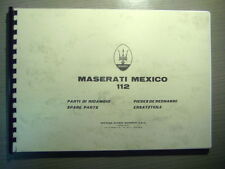 Parts Manual MASERATI  Mexico AM 112   Ersatzteilkatalog  rar Parti di Ricambio