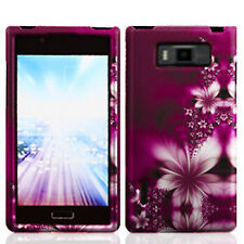 For LG Optimus Showtime HARD Protector Case Snap On Phone Cover Feather Flowers