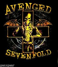 AVENGED SEVENFOLD cd lgo STELLAR Official Black SHIRT LRG new