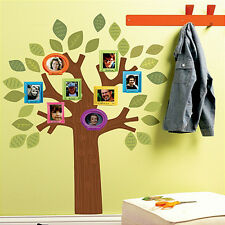 "WALLIES FAMILY TREE wall stickers 34 decals photo frames leaves branches 30""x19"""