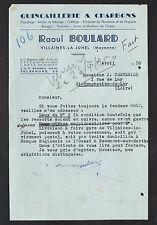 """VILLAINES-la-JUHEL (53) QUINCAILLERIE & CHARBON """"Raoul BOULARD"""" en 1950"""