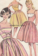 Vintage 1950s Ladies Dress Retro Rockabilly Misses 14 16 18 SEWING PATTERN COPY