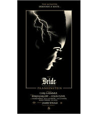 Olly Moss The Bride of Frankenstein Art Print Mondo poster universal monsters