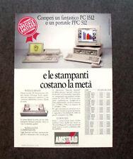 [GCG] I541 - Advertising Pubblicità - AMSTRAD PC 1512 , PORTATILE PPC 512