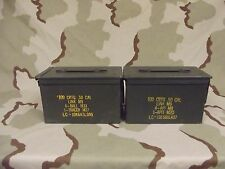 2(Two) Military Surplus 50cal (M2A1) Ammo Cans Boxes .50 caliber Grade 2 V.G.C