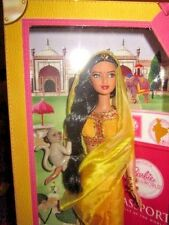 DOLLS OF THE WORLD PASSPORT TO INDIA WITH PET MONKEY NRFB!