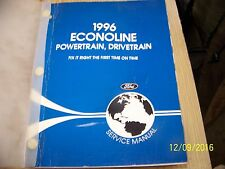 1997 FORD ECONOLINE  POWERTRAIN DRIVETRAIN SERVICE MANUAL