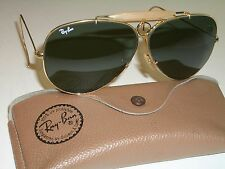 CIRCA 1980's VINTAGE B&L RAY BAN USA GP G15 SHOOTING SHOOTERs AVIATOR SUNGLASSES