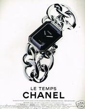 Publicité advertising 1997 La Montre Le Temps Chanel collection première
