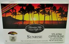 Hawaiian Isles Kona Coffee Company (Sunrise) K Cup for Keurig brewer - 10 count