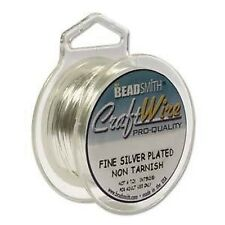 Craft Wire 18gauge (1.02mm) Silver Plated Beadsmith Pro Quality Non Tarnish