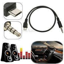 50cm Micro USB Male to 3.5mm Male Car AUX Audio Stereo Cable For Samsung Huawei