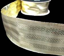 """2 Yds Solid Metallic Gold Wired Ribbon 2 1/2""""W"""