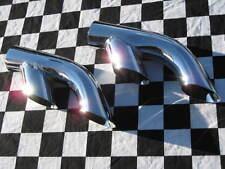 "DT214 FLOWMONSTER Chrome Dual Outlet Exhaust Tips 2.25"" 2 1/4"" Splitters (pair)"