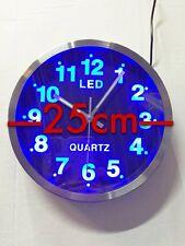 Wunderschöne blaue LED Uhr Analog rund Wanduhr  Quarzuhr Designuhr Rund