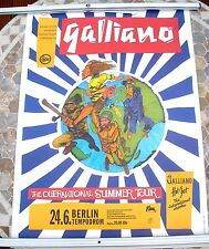 GALLIANO Outernational Summer tour poster 33 x 23  original