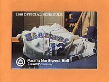 1988 MLB BASEBALL SEATTLE MARINERS GAME POCKET SCHEDULE PACIFIC NORTHWEST BELL